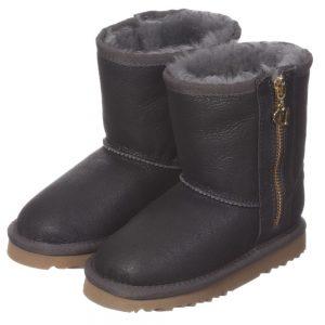 LOVE FROM AUSTRALIA Grey Sheepskin 'Heart Zip Nappa' Boots2