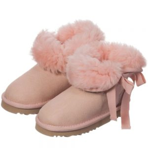 LOVE FROM AUSTRALIA Pink Sheepskin 'Cupid' Boots
