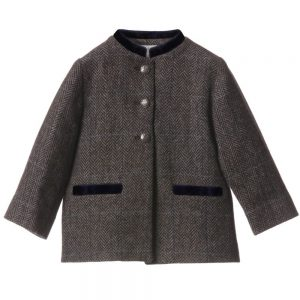 MARIE-CHANTAL Boys Wool Tweed Coat1