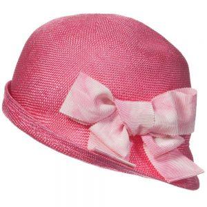 MI MI SOL Girls Fuschia Pink Woven Sun Hat