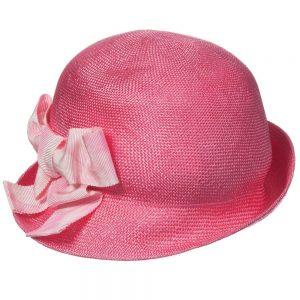 MI MI SOL Girls Fuschia Pink Woven Sun Hat2