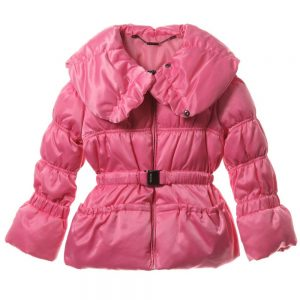 MICROBE BY MISS GRANT Girls Pink Down Padded Coat
