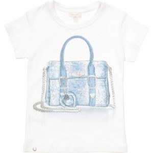 MICROBE BY MISS GRANT Girls White T-Shirt with Diamante Handbag3