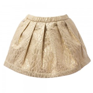 MICROBE BY MISS GRANT Gold Lamé Skirt1