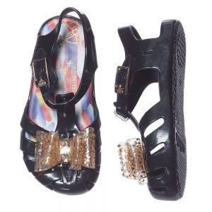 MINI MELISSA Girls Black Vivienne Westwood Jelly Sandals1