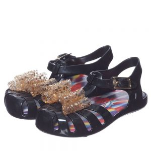 MINI MELISSA Girls Black Vivienne Westwood Jelly Sandals3