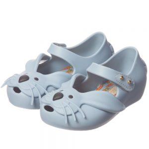 MINI MELISSA Girls Blue Rabbit Jelly Shoes3