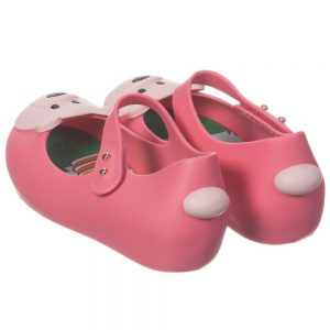 MINI MELISSA Girls Pink Bear Jelly Shoes