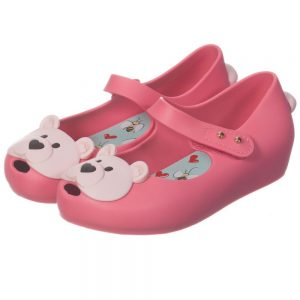 MINI MELISSA Girls Pink Bear Jelly Shoes2