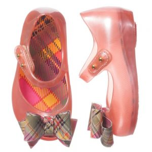 MINI MELISSA Girls Pink Vivienne Westwood Jelly Shoes