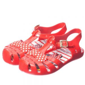 MINI MELISSA Girls Red Minnie Mouse Jelly Sandals