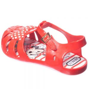 MINI MELISSA Girls Red Minnie Mouse Jelly Sandals1