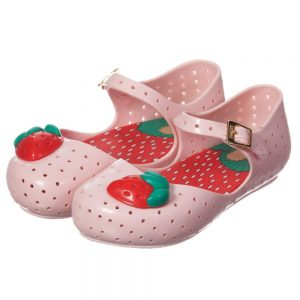 MINI MELISSA Pale Pink Jelly Shoes with Strawberry4