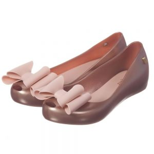 MINI MELISSA Pink Slip-On Jelly Shoes with Bow4