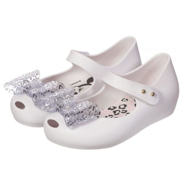 MINI MELISSA White Minnie Mouse Jelly Shoes2