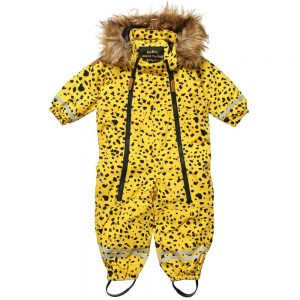 MINI RODINI Baby Yellow Snowsuit2