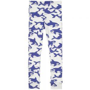 MINI RODINI Blue Whale Slim Jersey Trousers1
