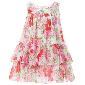 MISS BLUMARINE Pink Floral Cotton Dress