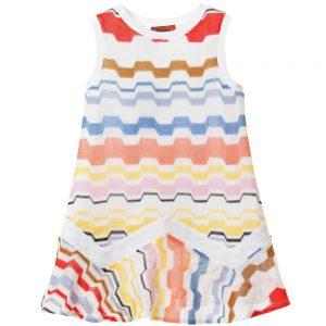 MISSONI Multi-Coloured Knitted Sleeveless Zigzag Dress