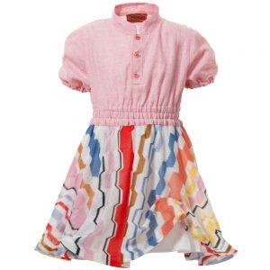 MISSONI Pink Dress with Fine Knit ZigZag Skirt1