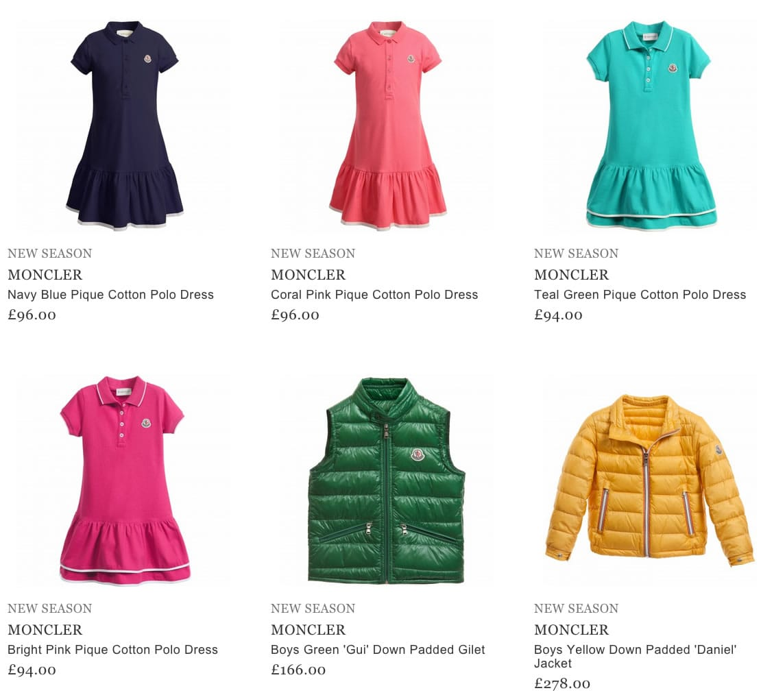 Moncler Childrens Clothing