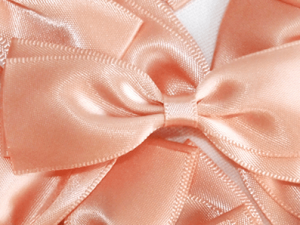 PEACH RIBBONS hair accessories