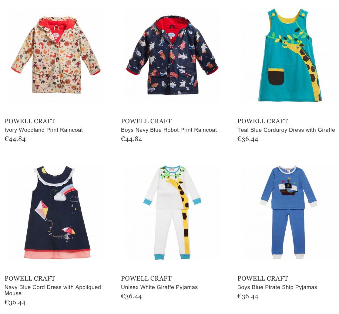 Powell Craft children clothes