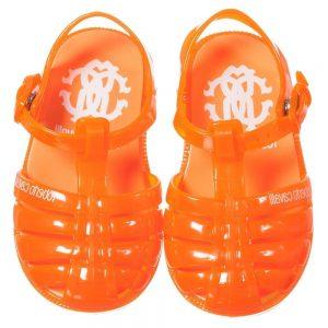 ROBERTO CAVALLI Unisex Orange Jelly Shoes 1