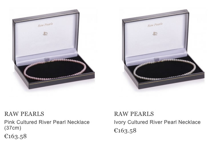 Raw Pearls flawless pearl necklaces