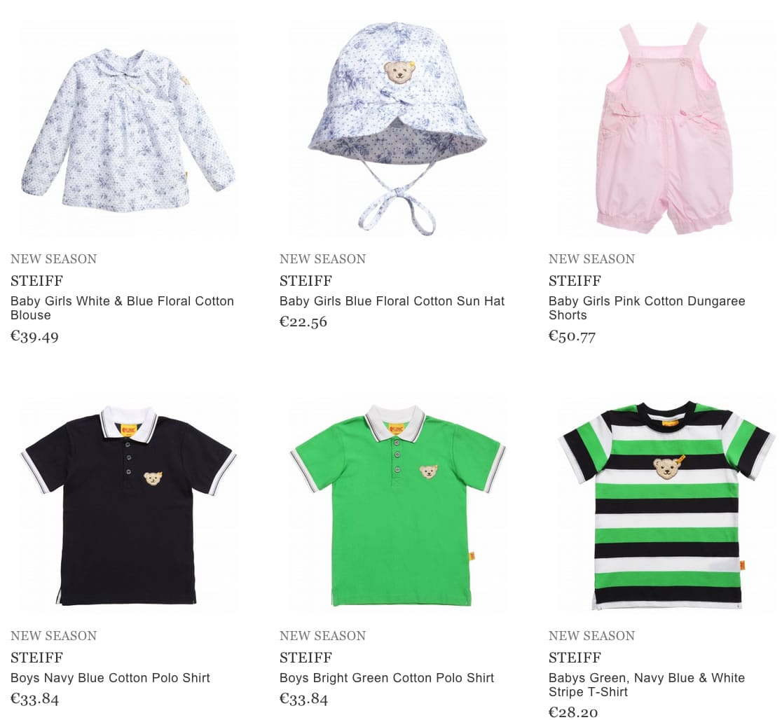 STEIFF baby clothes