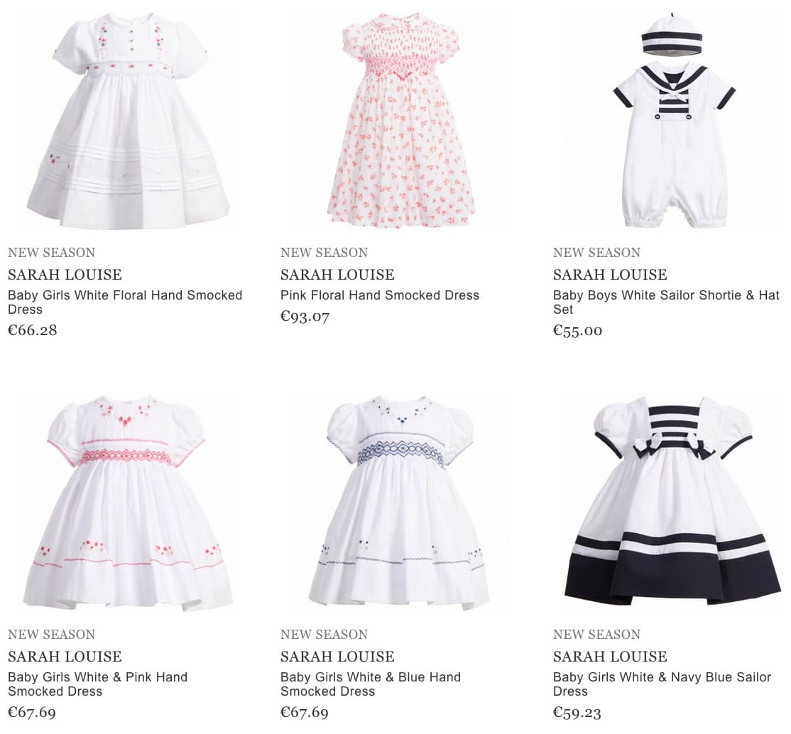 Sarah Louise Children Clothes