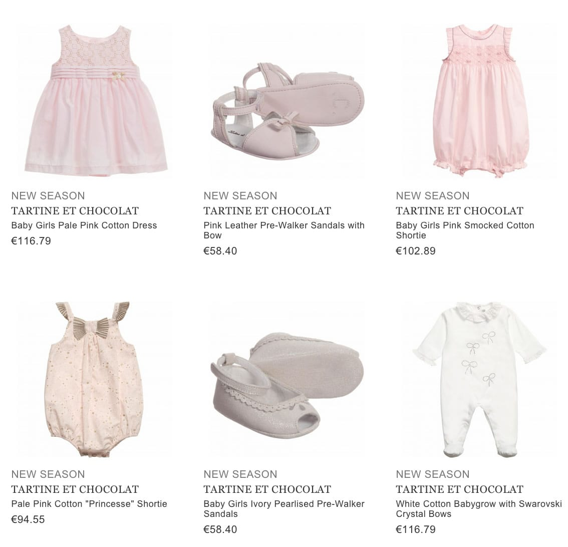TARTINE ET CHOCOLAT children & baby clothing