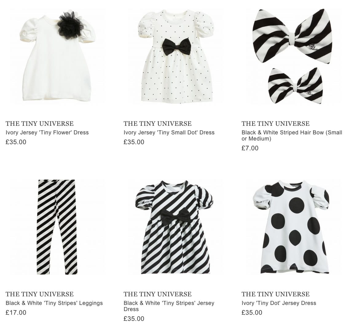 THE TINY UNIVERSE kids clothing & accessories