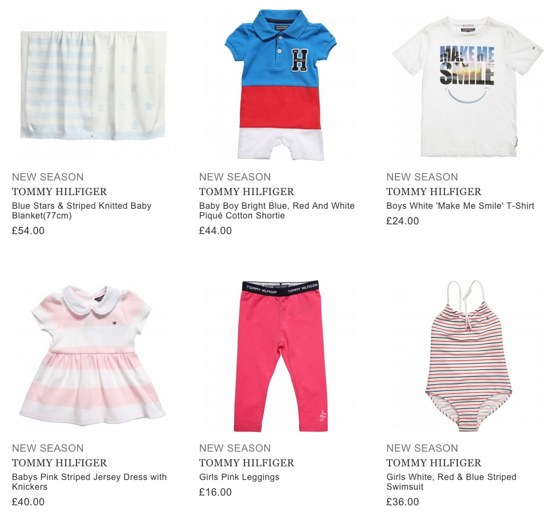 TOMMY HILFIGER children casual clothing