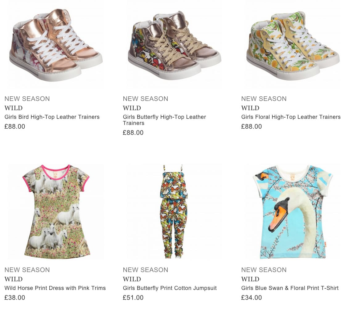 WILD children clothing & shoes