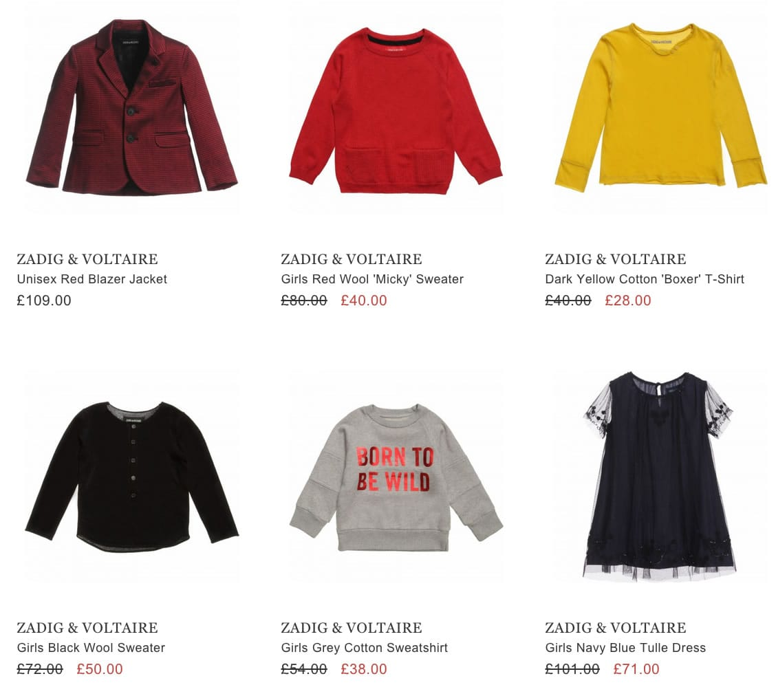 ZADIG & VOLTAIRE kids wear
