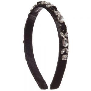 DAVID CHARLES Black Jewelled Hairband