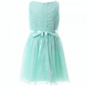 DAVID CHARLES Pale Turquoise Tulle Glitter Dress 1