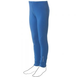 DENNY ROSE YOUNG Girls Blue Cotton Jersey Leggings