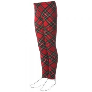 DENNY ROSE YOUNG Girls Red Tartan Leggings