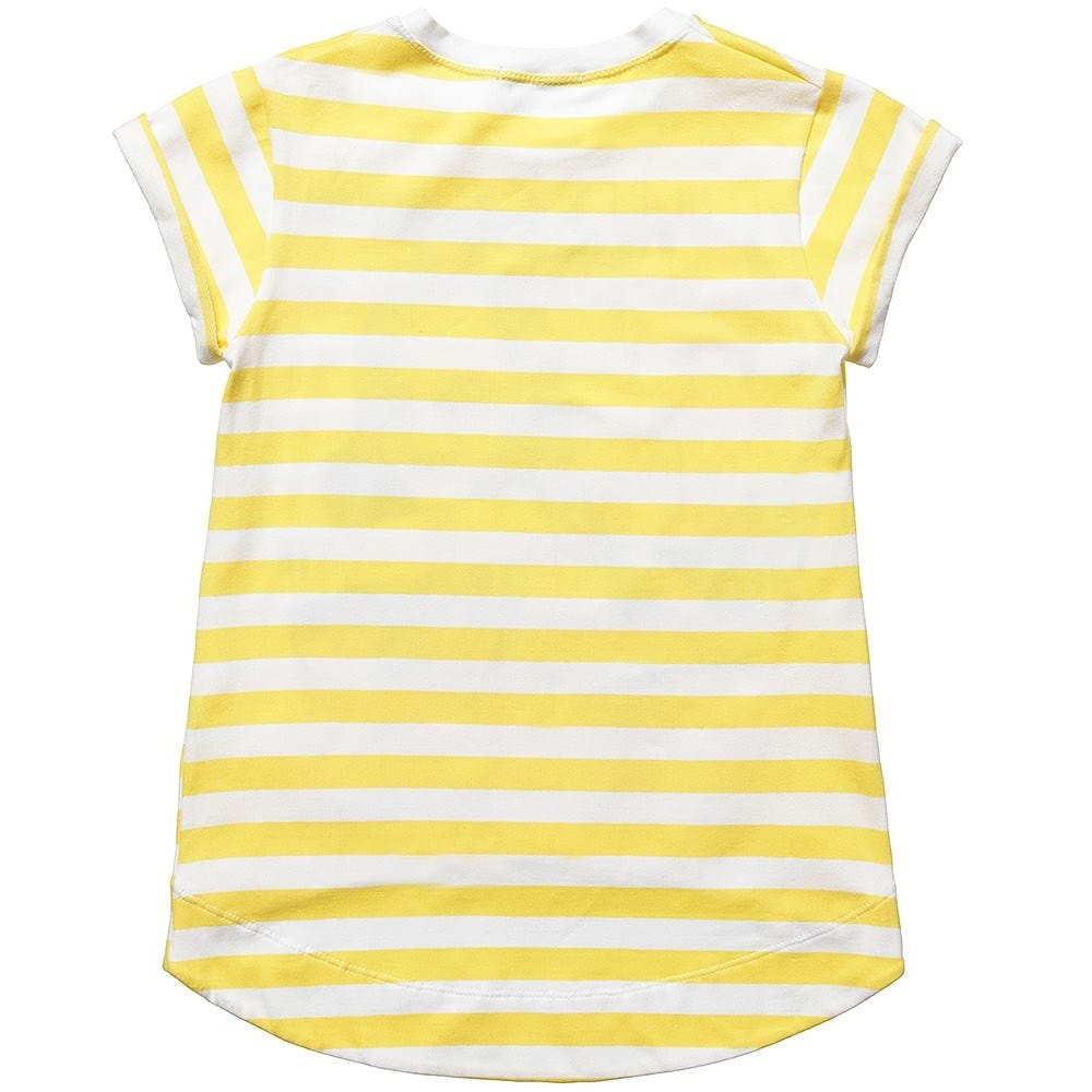Denny Rose Young Girls Yellow Striped Cotton T Shirt