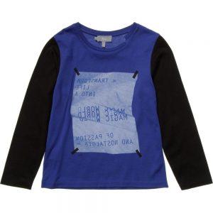 DIOR Blue Long Sleeved Logo T-Shirt