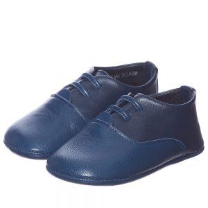 DIOR Boys Blue Leather Pre-Walker Shoes