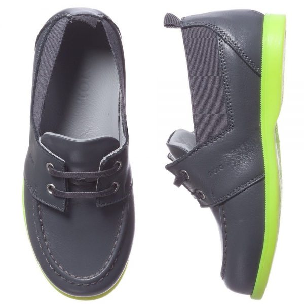Dior Boys Leather Loafers With Neon Sole Children Boutique