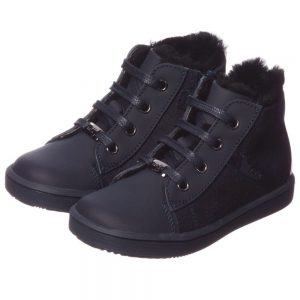 DIOR Navy Blue Leather Ankle Boots