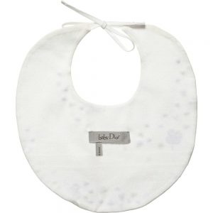 DIOR White Cotton Embroidered Bib 1