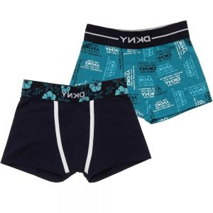 DKNY Blue Cotton Jersey Boxers Shorts (Set of 2)