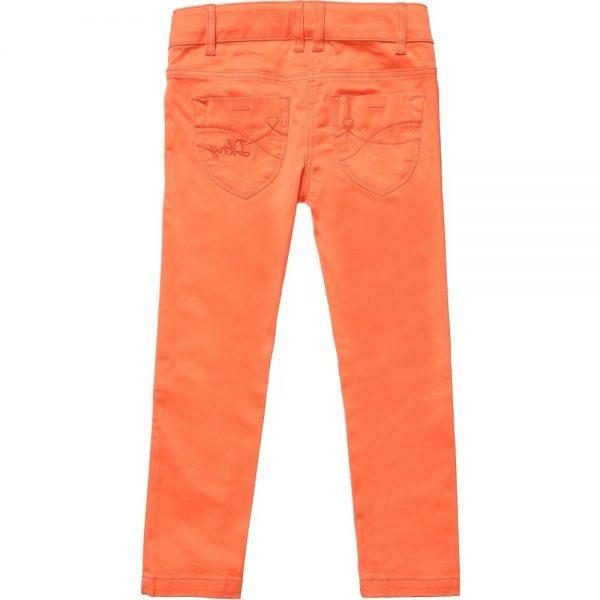 DKNY Girls Coral Orange Slim Fit Jeans 1