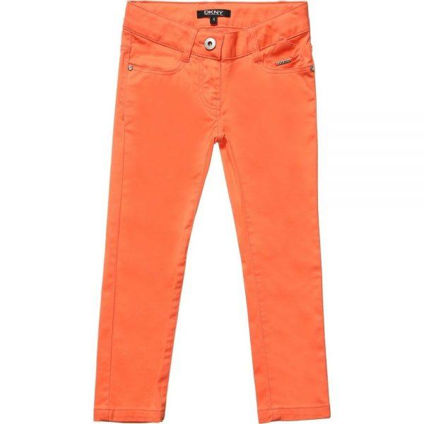 DKNY Girls Coral Orange Slim Fit Jeans