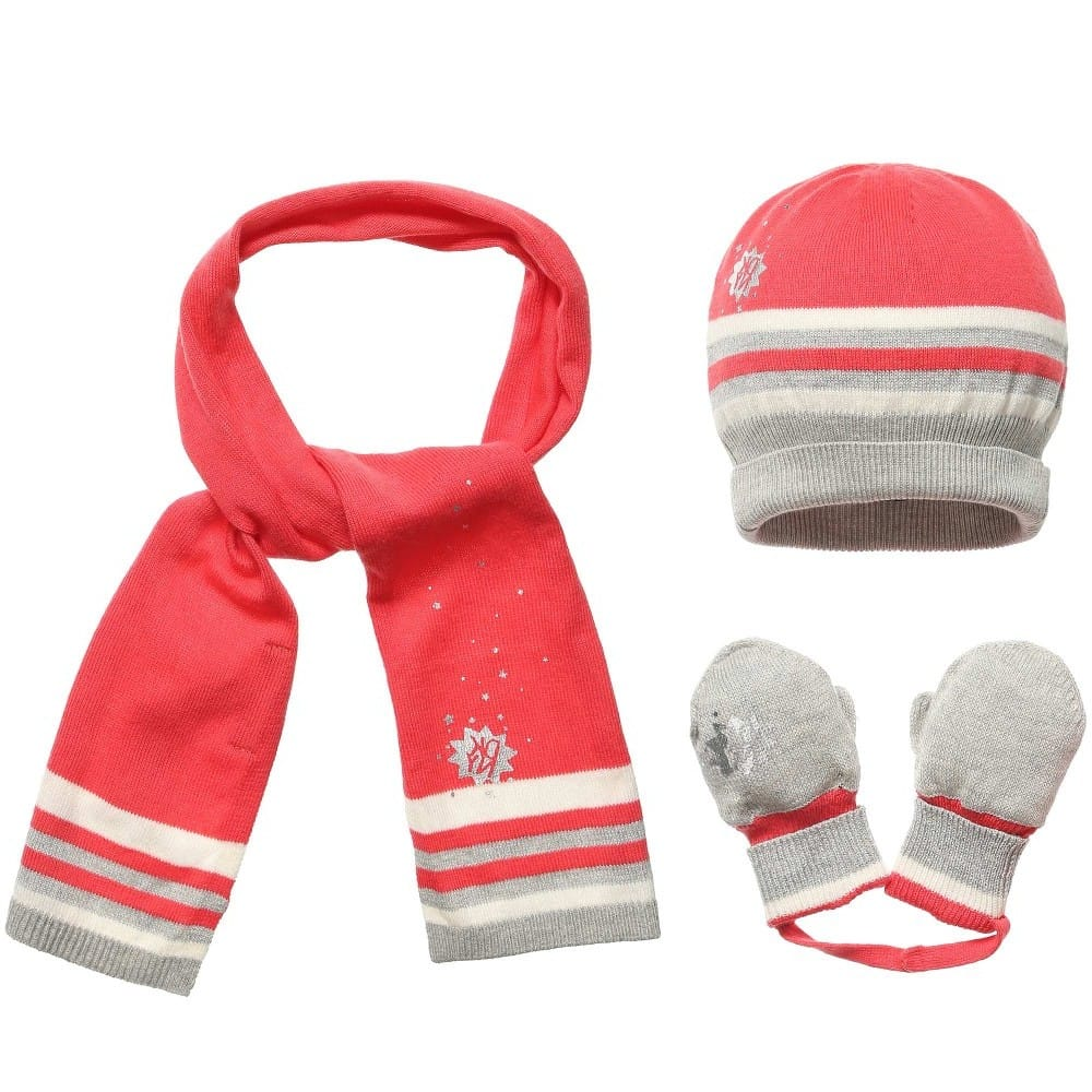 5feda2cf556 Dkny S Pink Hat Scarf And Mitten Set Children Boutique
